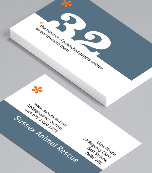 Business Card designs - Numbers