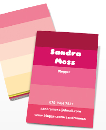 Designs de Cartes de Visite - Rose parfait II