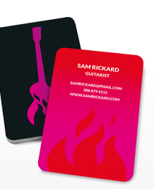Preview image of Business Card design 'Guitar on Fire'