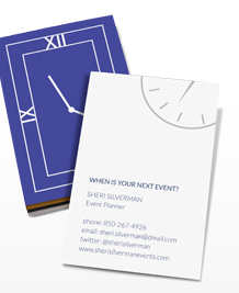 Preview image of Business Card design 'What's the time?'