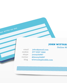 Preview image of Business Card design 'Write on me'