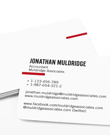 Preview image of Business Card design 'Simplicity'