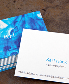 Preview image of Business Card design 'Dropped Ink'