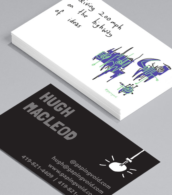 Business Card designs - Inspiration by gapingvoid