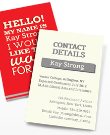 Preview image of Business Card design 'Hire me!'