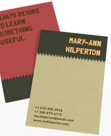 Preview image of Business Card design 'Wise words'
