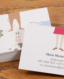 Preview image of Business Card design 'Maria Montessori'