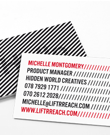 Preview image of Business Card design 'Hidden Message'