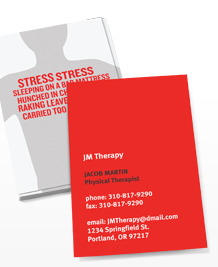 Preview image of Business Card design 'Painful Locations'