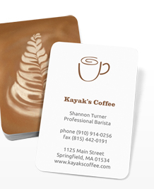 Preview image of Business Card design 'Latte Art'
