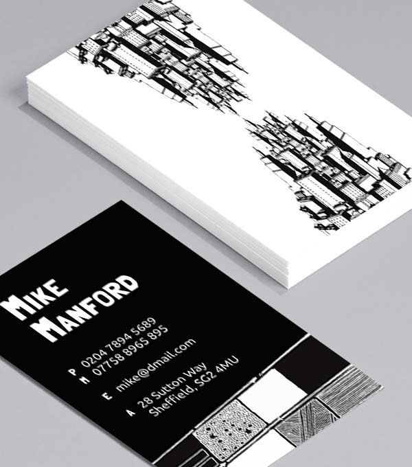 Business Card designs - Chris Dent Skyscrapers