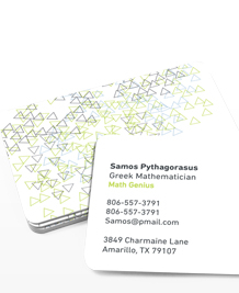 Preview image of Business Card design 'Abstract Lines Horizontal'