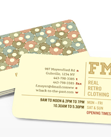 Preview image of Business Card design 'Retro Shop'