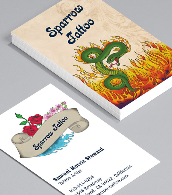Business Card designs - Tattoo