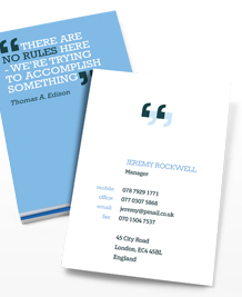 Preview image of Business Card design 'You can quote me 2'