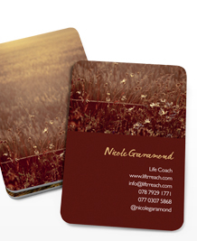 Preview image of Business Card design 'Fields of Joy'