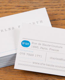Business Card designs - Charles Frederick Worth