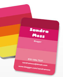 Preview image of Business Card design 'Perfectly Pink II'