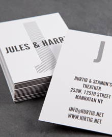 Preview image of Business Card design 'Jules Hurtig'
