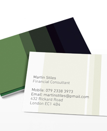 Preview image of Business Card design 'COLOURLovers Green'
