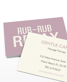 Preview image of Business Card design 'Rub Rub Relax'