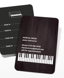 Preview image of Business Card design 'Pocket Piano'