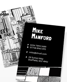 Preview image of Business Card design 'Chris Dent Skyscrapers'