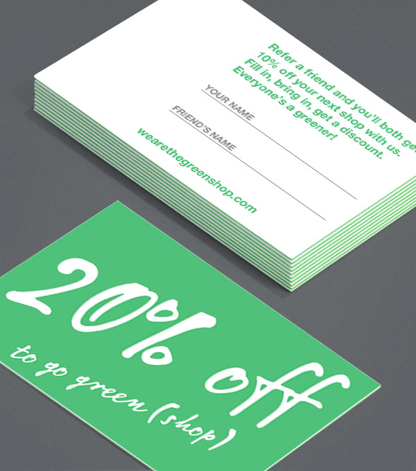 Business Card designs - Green Scribbles