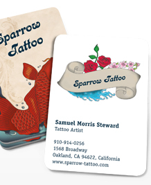 Preview image of Business Card design 'Tattoo'