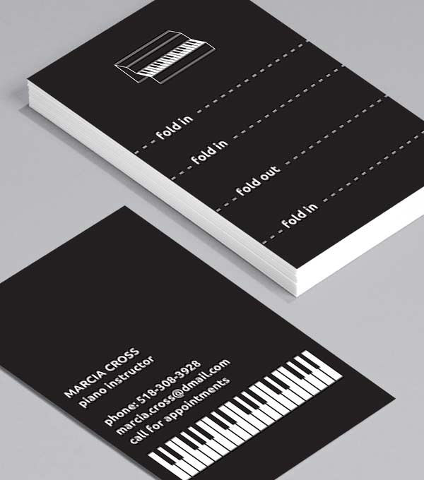 Designs de Cartes de Visite - Pocket Piano