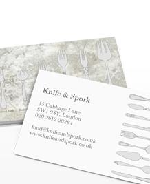 Business Card designs - Which fork?