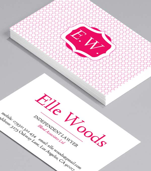Business Card designs - Elle Woods