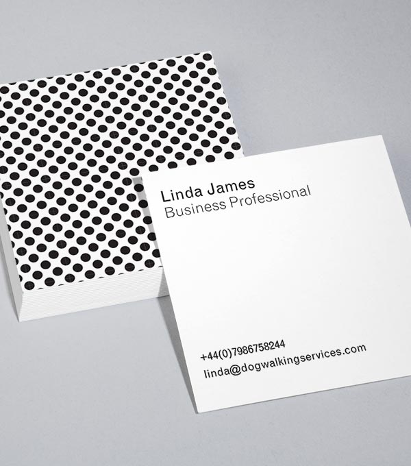 Square Business Card designs - Spot Check