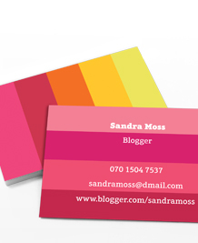Designs de Cartes de Visite - Perfectly Pink