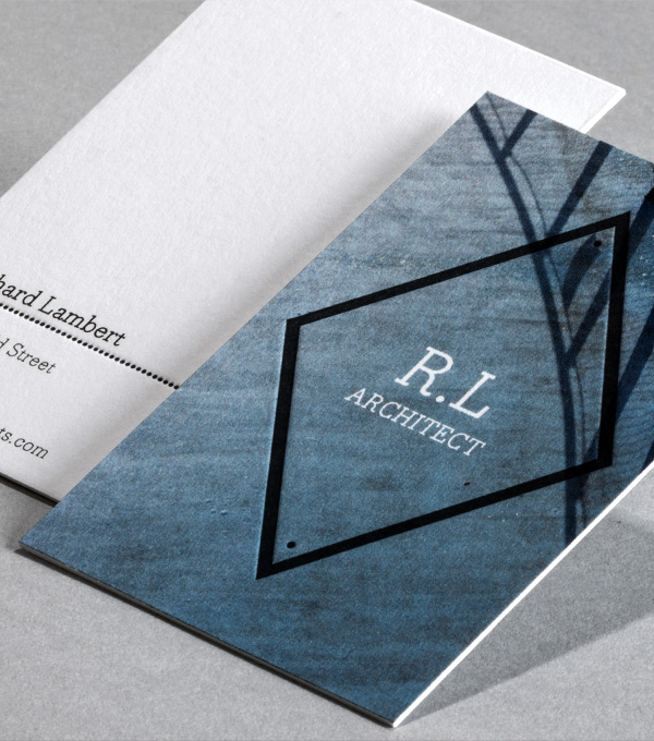 Business Card designs - Diamond stamp