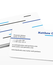 Preview image of Business Card design 'Blue Lines'