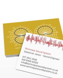Preview image of Business Card design 'Sound Waves and Circuit Boards'