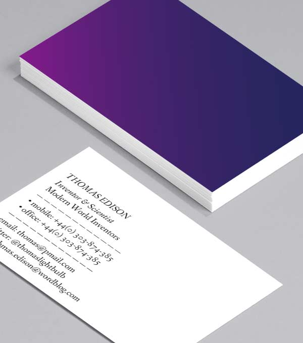Business Card designs - Blue Mood