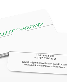 Preview image of Business Card design 'Clear Cut'