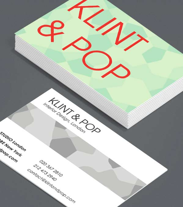 Business Card designs - Popping Patterns