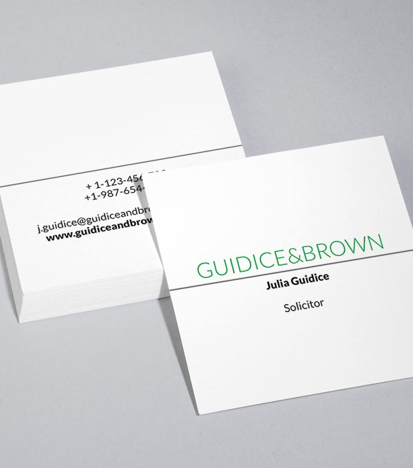 Square Business Card designs - Clear Cut