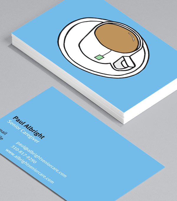 Business Card designs - Tea and Biscuits