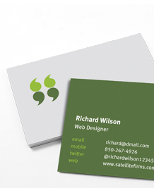 Preview image of Business Card design 'Talk to me'