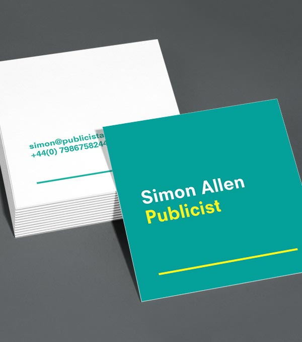 Square Business Card designs - Draw A Line