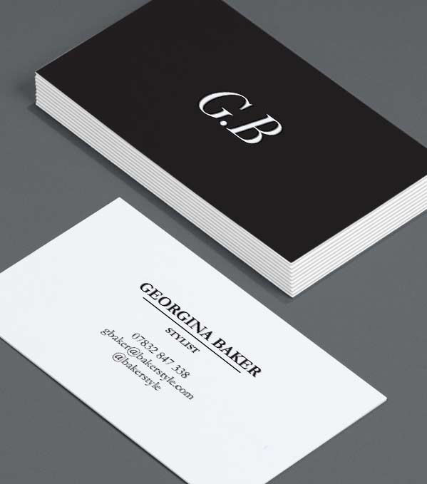 Business Card designs - Sharp Contrast