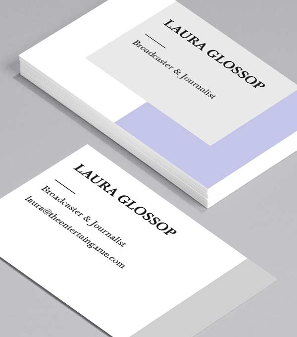 Business Card designs - Pale & Interesting