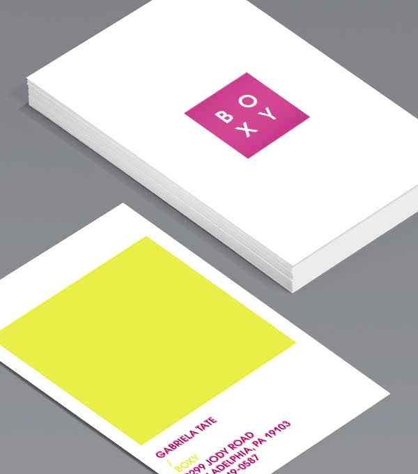 Business Card designs - Boxed up