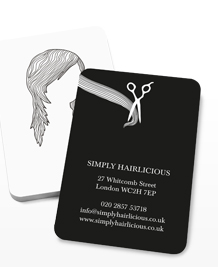 Preview image of Business Card design 'Hairstyles White'