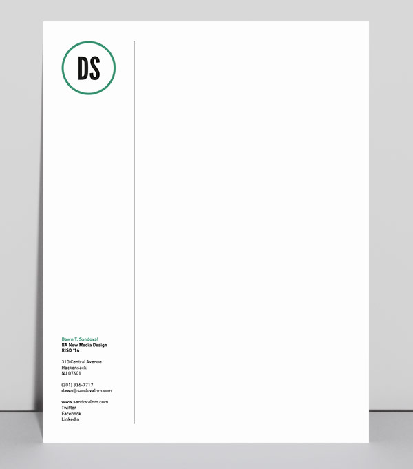letterhead designs initial hello - Letterhead Design Ideas