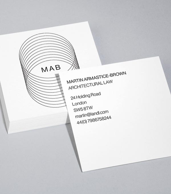 Square Business Card designs - Serious Face